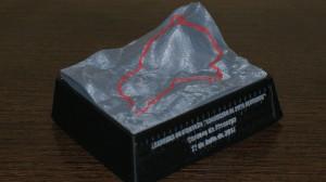 Ejemplo producto de nuestro servicio impresión 3D - Recuerdo Carreras de Montaña