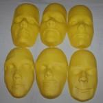 Diseño e impresión de cara personalizada en 3D.