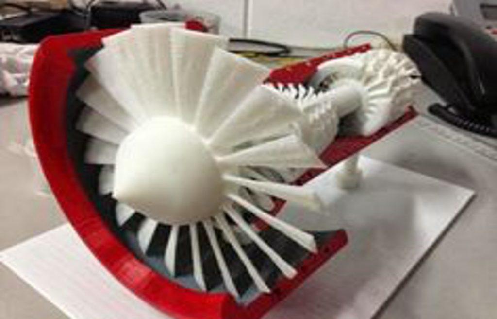 Prototipos Rapidos Impresion 3D - modelo impreso de turbina